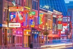 Unteres Broadway, Nashville, Tennessee, USA stockbild