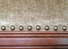 Unteres Detail des antiken Stuhls Stockfotos