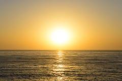 Untergehende Sonne Lizenzfreie Stockfotografie