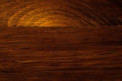 Untergehende Sonne, die in Ozean - hölzernes Korn-Muster sinkt Stockbilder