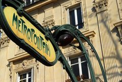 Untergrund- oder Untergrundbahnzeichen Lizenzfreie Stockfotos