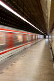 untergrundbahn stockbild