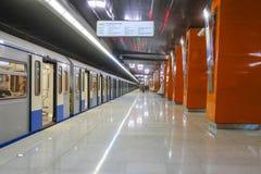 Untergrundbahn auf dem Station Borovskoye-shosse in Moskau lizenzfreie stockbilder