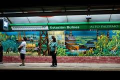 Untergrundbahn in Buenos Aires, Argentinien. Lizenzfreies Stockbild