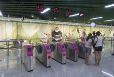 Untergrundbahn Chengdu-U-Bahn-Linie 3 Lizenzfreie Stockfotografie