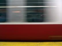 Untergrundbahn in der Bewegung Stockfoto