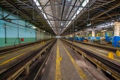 Untergrundbahn-Metrodepot Krasnaya-presnya Innenraum Stockfotografie