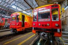 Untergrundbahn-Metrodepot Krasnaya-presnya Innenraum Lizenzfreie Stockfotos
