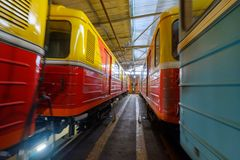 Untergrundbahn-Metrodepot Krasnaya-presnya Innenraum Lizenzfreies Stockbild