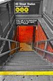 Untergrundbahn in New York Stockbild