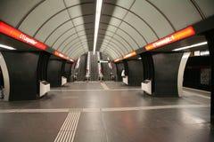 Untergrundbahn-Station Stockfotos