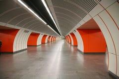 Untergrundbahn-Station Stockbilder