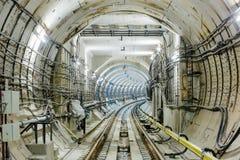 Untergrundbahn-Tunnel NYC Lizenzfreie Stockfotografie