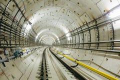 Untergrundbahn-Tunnel NYC Stockfoto