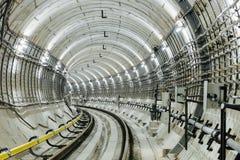 Untergrundbahn-Tunnel NYC Lizenzfreies Stockfoto