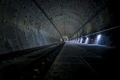 Untergrundbahn-Tunnel NYC Stockbilder