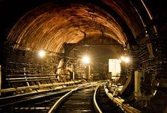 Untergrundbahn-Tunnel NYC Kiew, Ukraine Kyiv, Ukraine Lizenzfreie Stockfotos