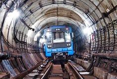 Untergrundbahn-Tunnel NYC Kiew, Ukraine Kyiv, Ukraine Stockbild