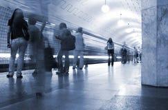 Untergrundbahn. U-Bahnhof Stockbilder