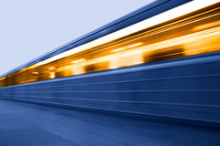 Untergrundbahn. U-Bahnhof Lizenzfreies Stockbild