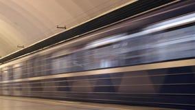 Untergrundbahn-Verkehrs-Zeitspanne stock video footage