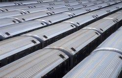 Untergrundbahnautos von a oben Stockfotografie