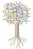 Untergrundbahnbaum Stockfoto