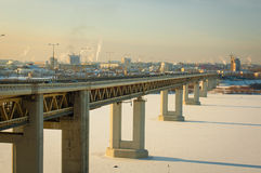 Untergrundbahnbrücke Lizenzfreies Stockfoto