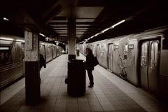 Untergrundbahnen in NYC Stockfotos