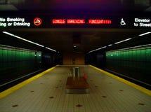 Untergrundbahnende Stockfotos