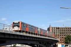 Untergrundbahnfahrt in Hamburg Lizenzfreie Stockfotografie