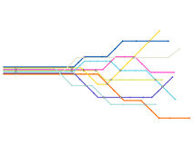 Untergrundbahnkarte vektor abbildung