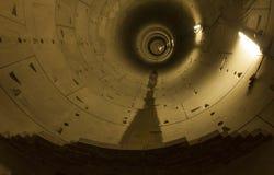 Untergrundbahnkorridor im Bau Stockfotografie