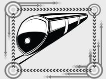 Untergrundbahntransportikone lizenzfreie abbildung