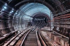 Untergrundbahntunnel Lizenzfreie Stockfotografie
