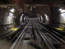 Untergrundbahntunnel Stockbild