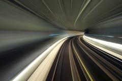 Untergrundbahntunnelschlaufe Stockfotos