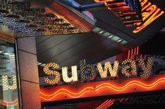 Untergrundbahnzeichen Stockbild