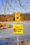 Unterhalt weg vom Eis Lizenzfreie Stockfotos