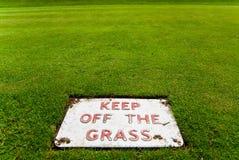Unterhalt weg vom Gras Lizenzfreie Stockfotos