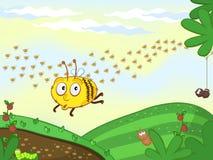 Unterhaltend-Biene Lizenzfreie Abbildung