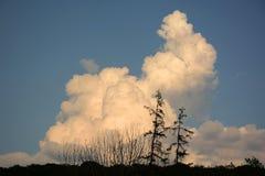 Unterhaltende Wolke auf dem Horizont Stockfoto
