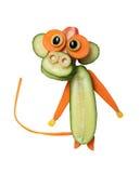 Unterhaltender Affe gemacht vom Gemüse Stockbilder