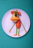 Unterhaltender Affe gemacht vom Gemüse Lizenzfreie Stockfotos
