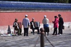 Unterhaltung für die älteren Personen Lizenzfreie Stockfotos