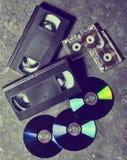 Unterhaltung und Medientechnik von den neunziger Jahren lizenzfreie stockfotos