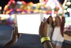 Unterhaltungs-Karnevals-Freizeitpark Funfair-Festival-Konzept stockfotos