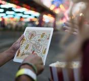 Unterhaltungs-Karnevals-Freizeitpark Funfair-Festival-Konzept stockfotografie