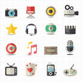 Unterhaltungsfilmikonen Lizenzfreie Stockbilder