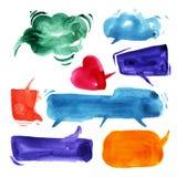 Unterhaltungswolken im Aquarell Lizenzfreies Stockfoto